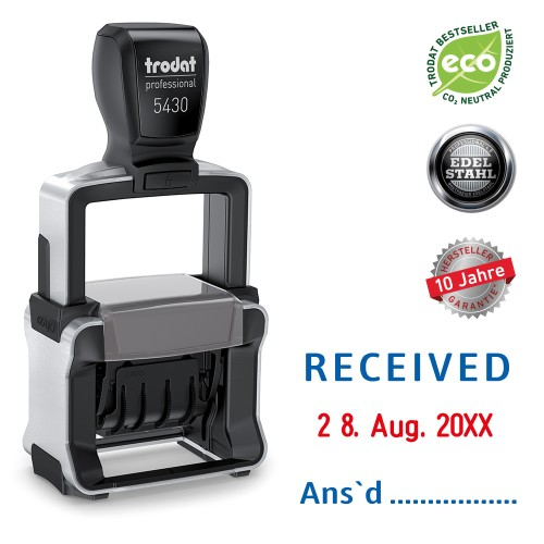 Trodat date stamp 5430/L - RECEIVED