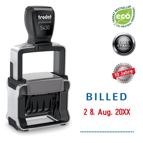 Trodat date stamp 5430/L - BILLED