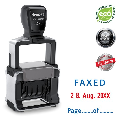 Trodat date stamp 5430/L - FAXED